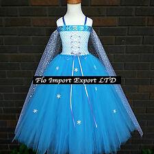 Frozen Elsa Vestiti Tulle Compleanno Carnevale Elsa Girl Cosplay Dress 789059