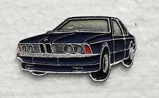 BMW 6 SERIES ENAMEL LAPEL PIN BADGE. 40x22mm. BUTTERFLY PIN FIXING.