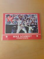 1983 Star #9 MIKE SCHMIDT *POWER STATS* Philadelphia Phillies Baseball Card. 3B.