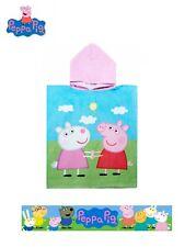Official Peppa Pig Hooded Poncho Towel Microfibre Girls Gift Oeko Tex  2-6 Year