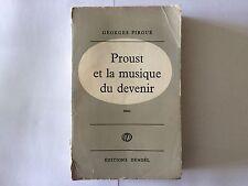 PROUST ET LA MUSIQUE DU DEVENIR 1960 GEORGES PIROUE DEDICACE SERVICE PRESSE
