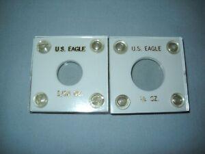 2 U.S. EAGLE GOLD 1/10 oz & 1/4 oz  Plastic Coin CAPITAL HOLDERS