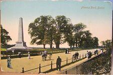 Irish Postcard PHOENIX PARK Dublin Ireland Wellington Obelisk Mnmt Valentine