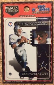 Troy Aikman Magnet Dallas Cowboys Heroes of The Locker Room Free Shipping