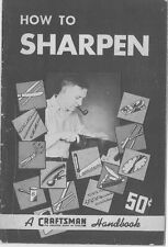 1943 Craftsman 1943 -How To Sharpen (First Edition) Instructions