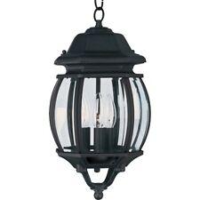Maxim Crown Hill 3-Light Outdoor Hanging Lantern Black - 1036BK
