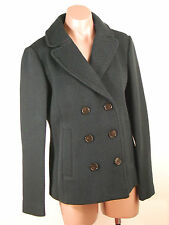 Ann Taylor Loft  Wool Blend Twill Double Breasted Pea Coat S NWT