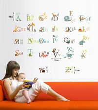 Baby Kid Nursery Room Wall Decals Removable Stickers--- 26 Animals Alphabet