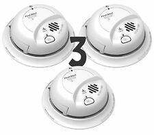 Lot of 3 First Alert BRK Smoke And Carbon Monoxide Alarm AC Powered SC9120B