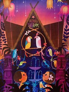 "Disneyland Disney World ENCHANTED TIKI ROOM Art Giclee on Canvas 16"" x 12"""