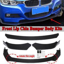 Gloss Black Front Bumper Lip Splitter Spoiler Universal Adjustable Body Kit Us Fits Cayenne