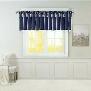 Madison Park Polyester Lightweight Faux Silk Valance With Beads MP41-6320