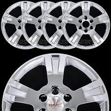 "4 CHROME 07-13 GMC ACADIA 18"" Wheel Skins Hub Caps Full Covers fit Aluminum Rim"