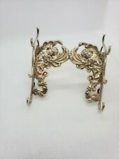 RARE Sterling Silver Victorian Quill Pen Stand/Holder, Ornate with Angels