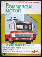 COMMERCIAL MOTOR MAGAZINE 5 MAR 1965 - LEYLAN LOW WEIGHT BADGER TRACTOR, ERF