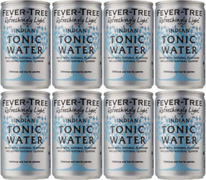 Fever Tree Refreshingly Light Indian Tonic Water Can 8x150ml