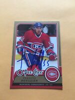 Francis Bouillon Signed Montreal Canadiens Card A