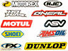 Motorcycle Colour Laminated Swingarm Frame Stickers MX Sport 1 x sheet Set Three