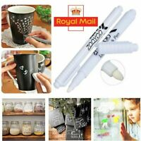 3PCS  White Liquid Chalk Pen Marker For Glass Windows Chalkboard Blackboard UK