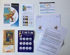 TINTIN CARTE POSTAL ENVELOPPE PUB NUMISMATIQUE / HERGE / MOULINSART