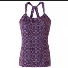 Prana Quinn Chakara Camiseta XL Tirantes Ciruela Barbas Morado Estampado