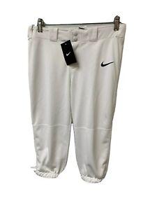 Nike Kids Girls' Softball/Baseball Pants White Size Medium FS Benefits Charity