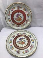 Vintage Daher Decorated Ware Floral Tin Tray Set of 2 Serving Ware