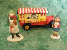 """Dept 56 Heritage Village Collection~""""Popcorn Vendor"""" 3 Piece Set~#5958-7~Niob"""