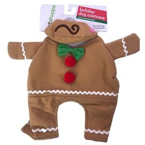 Petshoppe Dog Christmas Gingerbread Man Costume XS / S NEW Extra Small Pet Pets