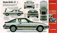 MAZDA RX-7 / RX7 SPEC SHEET/Brochure:1980,1981,1982,...