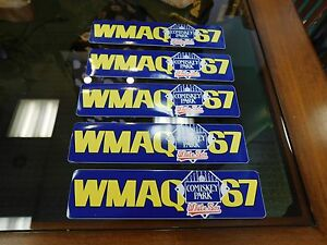 "(5) Vintage 1980's ""CHICAGO WHITE SOX""  WMAQ 67 Radio Station Bumper Stickers"