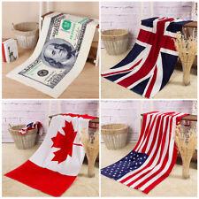USA UK CA Flag Beach Towel Bathroom Drying Shower Towel Microfiber Bath Towels