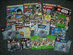 BUNDLE LEGO MAGAZINES + MINI - FIGURES - SETS - LEX LUTHER - ETC - EVERYTHING