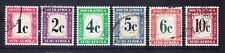 SOUTH AFRICA 1961 SGD45/50 set of 6 Postage Dues New Currency fine used. Cat £38