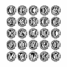 Love To Travel 925 Sterling Silver Pandora Letter Charms A to Z Hollow Beads New