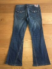 "MEN'S TRUE RELIGION JOEY RANGE EXCELLENT BLUE DENIM JEANS UK 30"" L30"