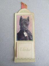 BOOKMARK RAPHAEL TUCK 1944 Calendar WW2 Wartime Black Scottie Dog Greetings