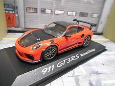 PORSCHE 911 991 GT3 RS Carrera 2016 Weissach Package orange Minichamps 1:43