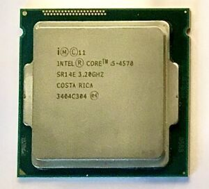 Intel Core i5 - 4570 3.20GHz  Quad Core Processor Socket LGA1150 SR14E, 4th Gen