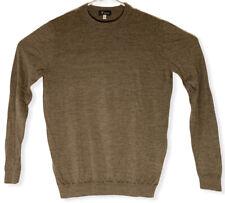 Ibex 100% Merino Wool Crewneck Brown Sweater Men's Size Large - Euc