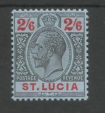 ST LUCIA SG87 THE 1912-21 GV 2/6d BLACK&RED/blue FRESH MINT CAT £27