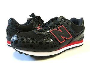 NWT NEW BALANCE x Disney Minnie Mouse Black Tennis Shoes Kid's Size 6 M