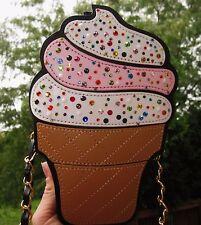kate spade pink earrings + ICE CREAM Shoulder Boutique Bag Swarovski crystals
