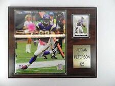 Adrian Peterson Minnesota Vikings Placca, Holzbild, 38 Cm, NFL Football, Nuovo
