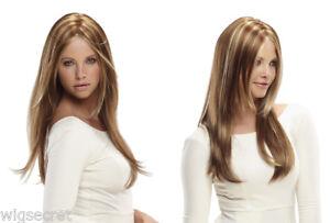 Long Lace Front Jon Renau Zara Straight Blonde Brown Brunette Red Mono Top Wigs