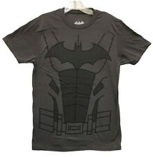 DC Comics Men's Charcoal Batman HD Suit Muscle Costume Licensed T-Shirt New