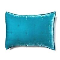Opalhouse Velvet Tufted Stitch Teal Blue Luxury Soft STANDARD Pillow Sham