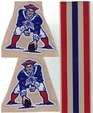New England Patriots THROWBACK FULL SIZE FOOTBALL HELMET DECALS W/STRIPE