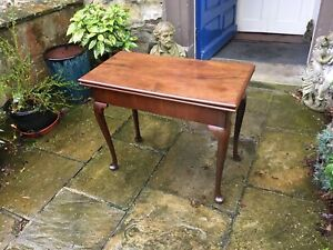 Victorian mahogany fold over games card table or side table