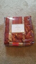 New Pottery Barn Peyton Drape Rideau Pole Top Maroon Gold Stripe 50x108 Panel
